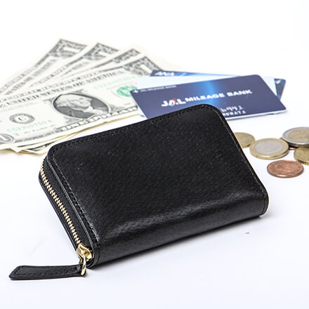 デシベルのラウンド財布(ミニ) ピッグレザー