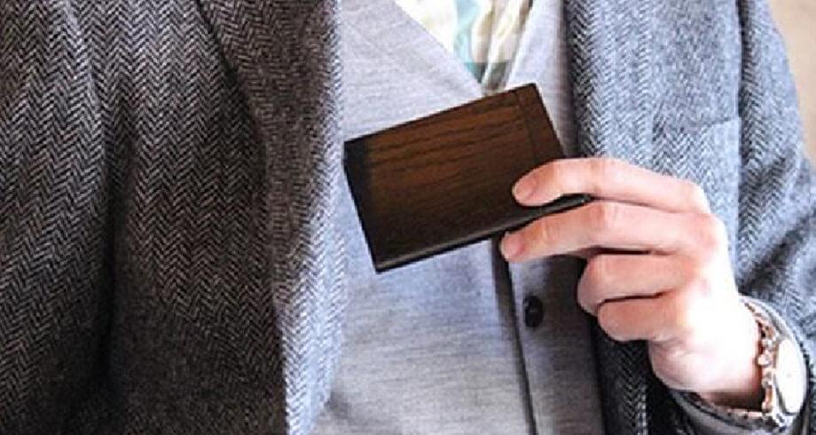 オークヴィレッジの木製カードケース