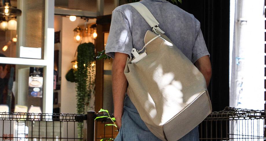 ジンモンのクリップトートバッグ