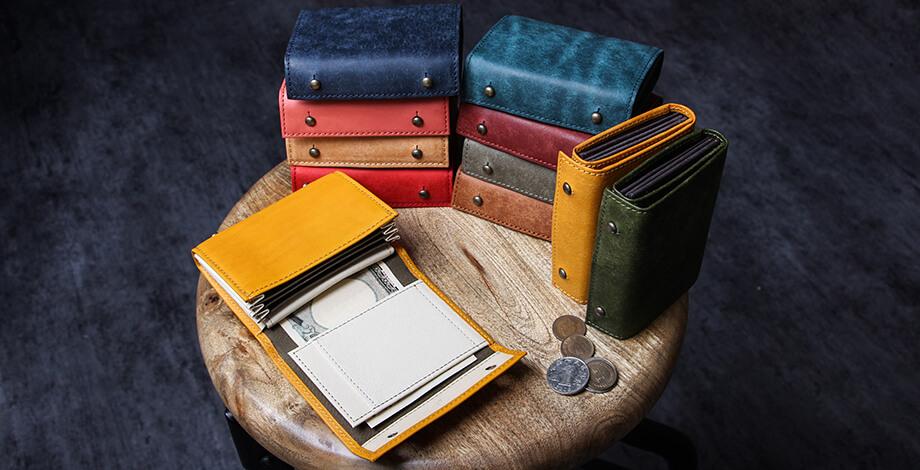 エムピウの二つ折り財布 millefoglie P25 ミッレフォッリエ2 P25 m+