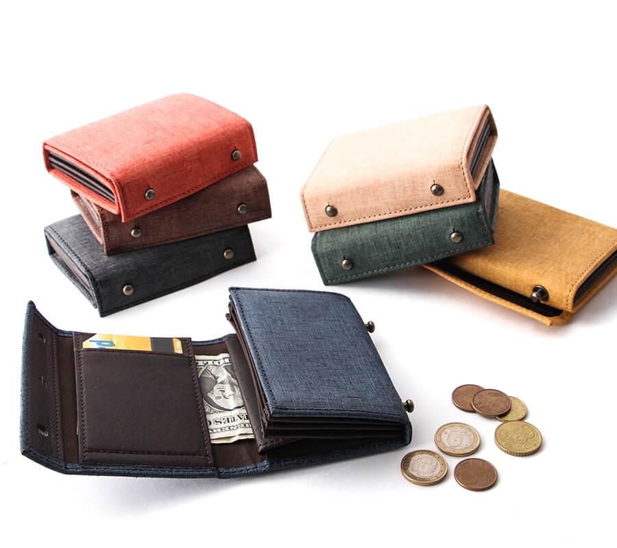 エムピウの二つ折り財布 millefoglie ミッレフォッリエ P25 quadretti クアドレッティ m+